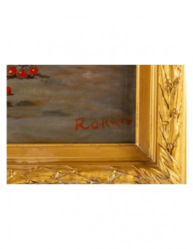20th century - Johann Carl Rohmer (1891 - 1943) -  Still Life with Redcurrants