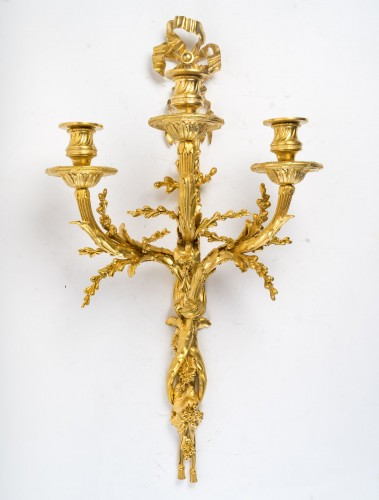 19th century - A Pair of wall-lights in Louis XVI style - Henry Dasson 1881