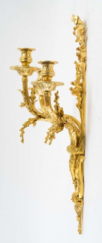 A Pair of wall-lights in Louis XVI style - Henry Dasson 1881 - Napoléon III
