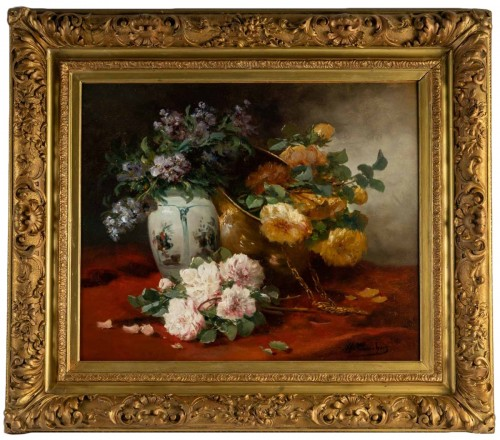 Still life with the roses - Henri Cauchois (1850 - 1911)