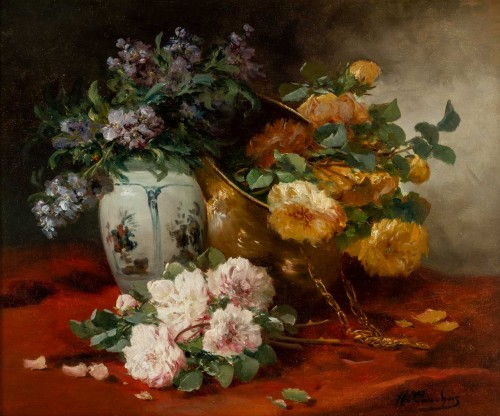 Still life with the roses - Henri Cauchois (1850 - 1911) - Paintings & Drawings Style