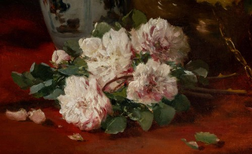 Still life with the roses - Henri Cauchois (1850 - 1911) -