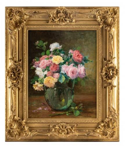 A Bouquet of roses - Justin Julles Claverie (1859 - 1932)