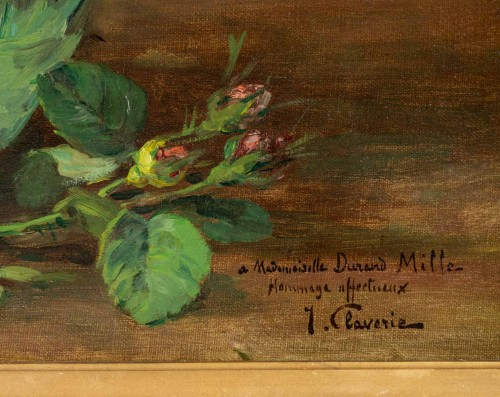 Paintings & Drawings  - A Bouquet of roses - Justin Julles Claverie (1859 - 1932)