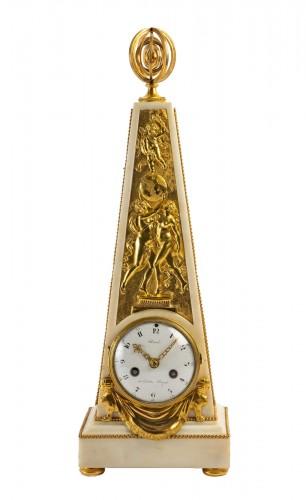 An Louis XVI Obelisk Clock