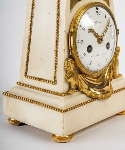 Horology  - An Louis XVI Obelisk Clock