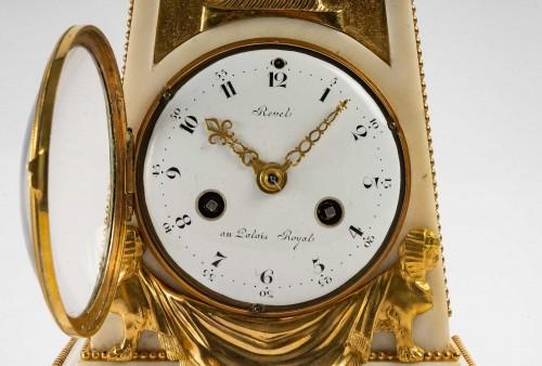 An Louis XVI Obelisk Clock -