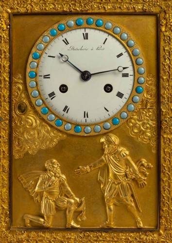 19th century - A Restauration period clock with a bust of the king Henri IV