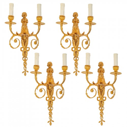 Suite of four 19th century wall-lights