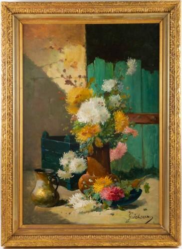 Emile Godchaux (1860 - 1938)  - Chrysanthemums
