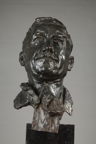 Bronze bust signed ALFRED PINA dated 1930 - Sculpture Style Art Déco