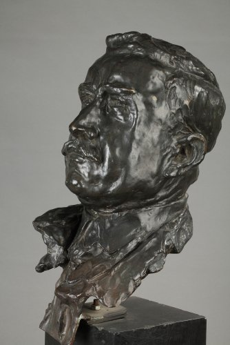 Bronze bust signed ALFRED PINA dated 1930 - Art Déco