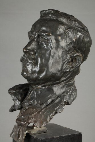 Art Déco - Bronze bust signed ALFRED PINA dated 1930