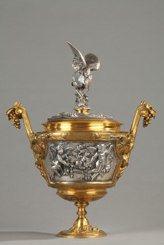 Bronze lidded vase by F Barbedienne - Napoléon III