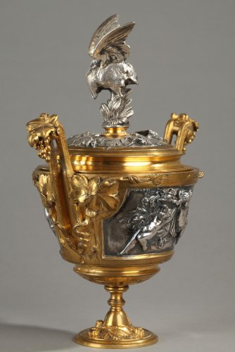 Antiquités - Bronze lidded vase by F Barbedienne
