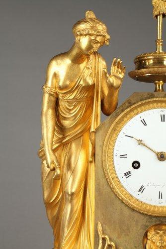"""Clocks  - French Empire mantel clock """"The Broken Jug"""""""