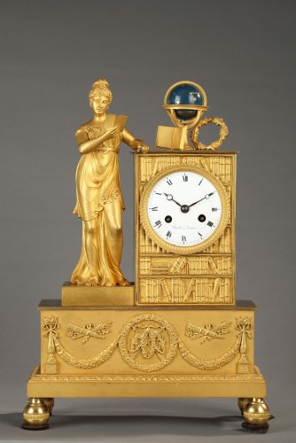 French figural mantel clock, early 19th century