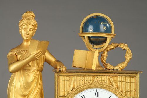 French figural mantel clock, early 19th century - Clocks Style Empire