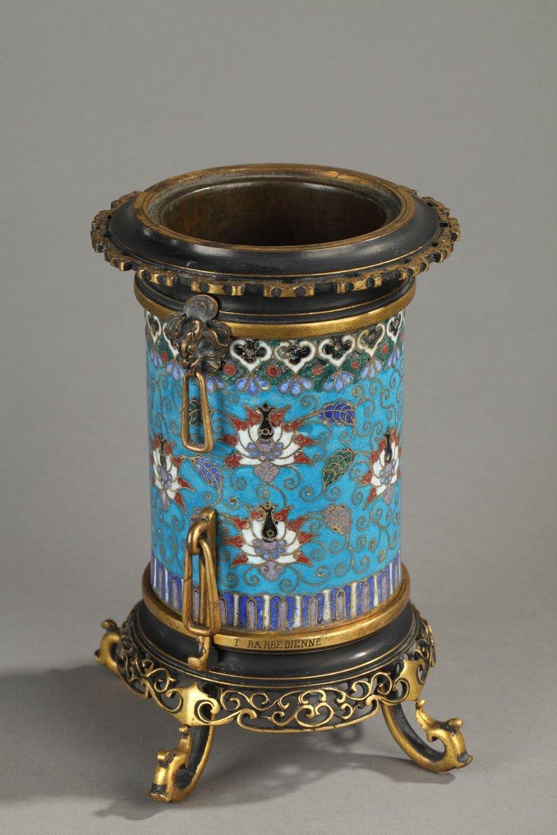 Bien connu Vase rouleau en bronze cloisonné F. Barbedienne - XIXe siècle - N  AY65