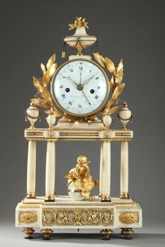 Large Louis XVI Temple Clock
