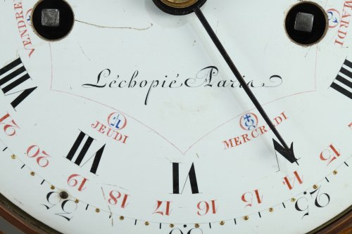 Large Louis XVI Temple Clock -