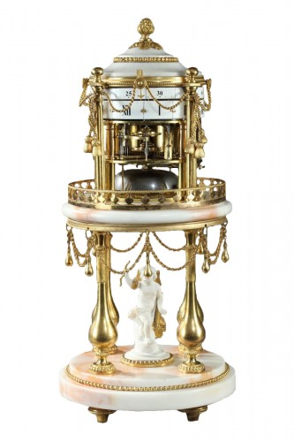 """Early 19th century Clock with revolving circles """" The Temple of Love """""""