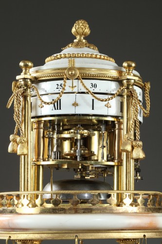 """Early 19th century Clock with revolving circles """" The Temple of Love """" - Horology Style"""