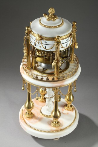 """- Early 19th century Clock with revolving circles """" The Temple of Love """""""