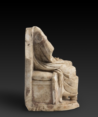 Ancient Art  - Seated Zeus or Sarapis, circa 2nd century A.D.
