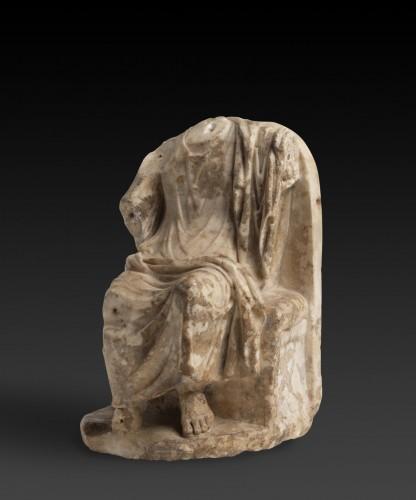 Seated Zeus or Sarapis, circa 2nd century A.D. -