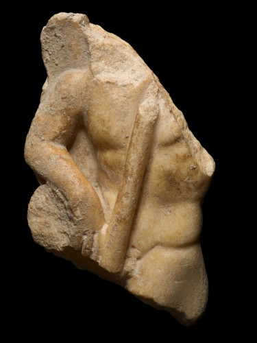 Ancient Art  - Relief of male torso, 2nd/3rd Century A.D.