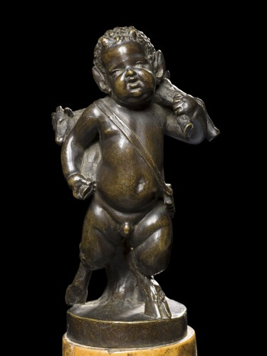 Young satyr carrying a goat - Sculpture Style