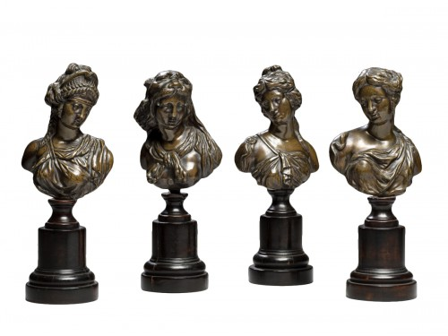 Set of Bronze Mythological Figures, 19th Century