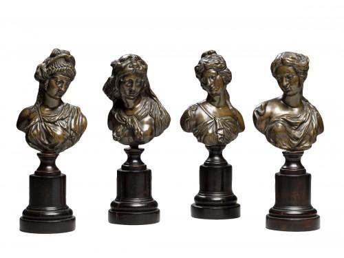Set of Bronze Mythological Figures, 19th Century