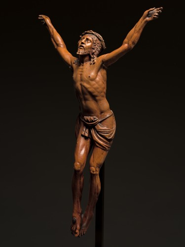 German boxwood figure of Cristo Vivo - Sculpture Style