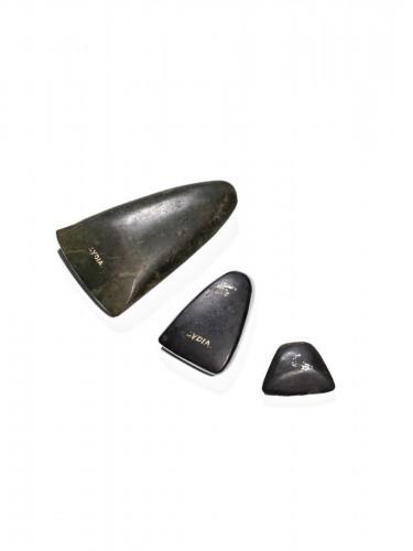 Three Anatolian polished stone axe heads, Bronze Age, 3rd Millennium B.C.