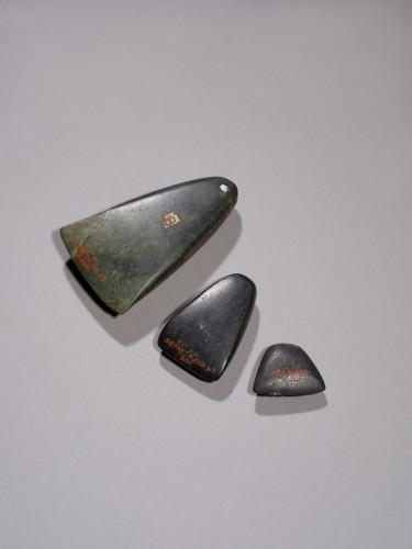 Three Anatolian polished stone axe heads, Bronze Age, 3rd Millennium B.C. - Ancient Art Style