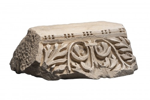 Roman Marble Relief with Achantus Leaves, 2nd Century AD