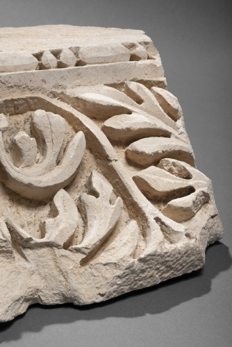 Roman Marble Relief with Achantus Leaves, 2nd Century AD - Ancient Art Style