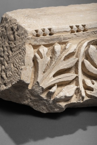 Ancient Art  - Roman Marble Relief with Achantus Leaves, 2nd Century AD