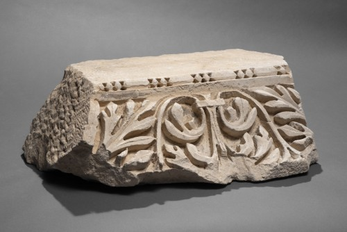 Roman Marble Relief with Achantus Leaves, 2nd Century AD -