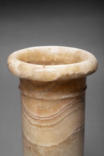 Egyptian banded alabaster jar, 1st Dynasty, 2965-2815 B.C. - Ancient Art Style