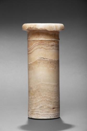 Ancient Art  - Egyptian banded alabaster jar, 1st Dynasty, 2965-2815 B.C.