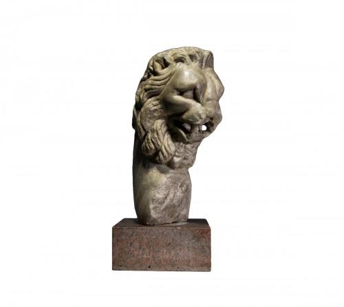 Large Roman Marble Lion Fountain Head, 1st/2nd century A.D.