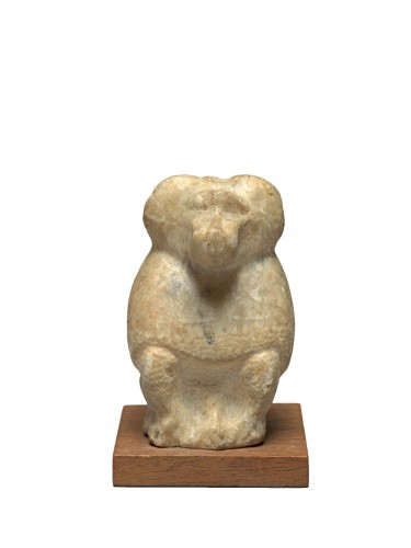 Alabaster figure of thoth, Egypt, Late Dynasty, 664-332 B.C.