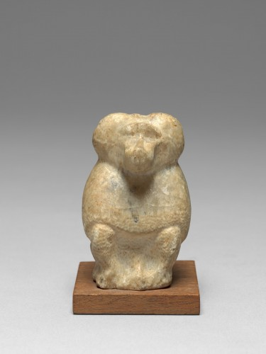 BC to 10th century - Alabaster figure of thoth, Egypt, Late Dynasty, 664-332 B.C.