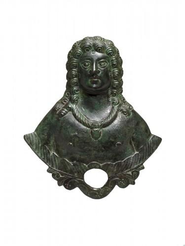 Gallo-roman applique bust, Roman Empire, 3rd/4th Century A.D.