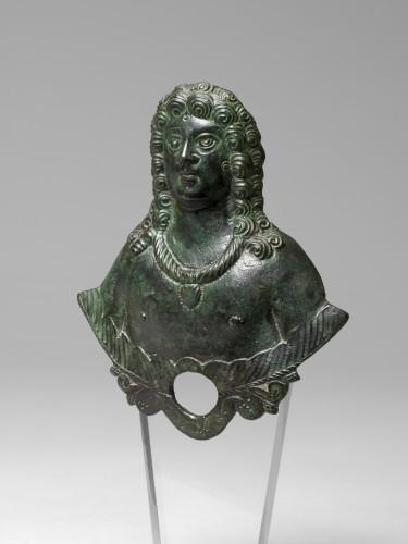 Gallo-roman applique bust, Roman Empire, 3rd/4th Century A.D. - Ancient Art Style