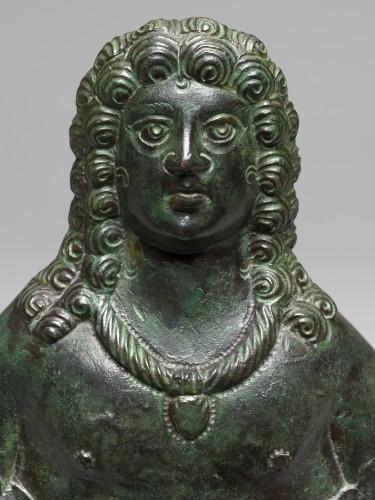 BC to 10th century - Gallo-roman applique bust, Roman Empire, 3rd/4th Century A.D.