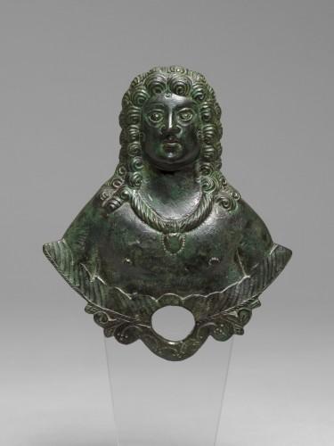 Gallo-roman applique bust, Roman Empire, 3rd/4th Century A.D. -